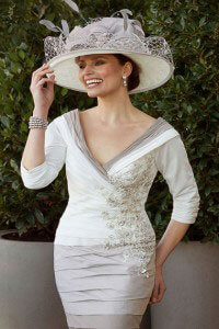 Ian-Stuart-Three-Quarter-Sleeve-Fitted-Dress