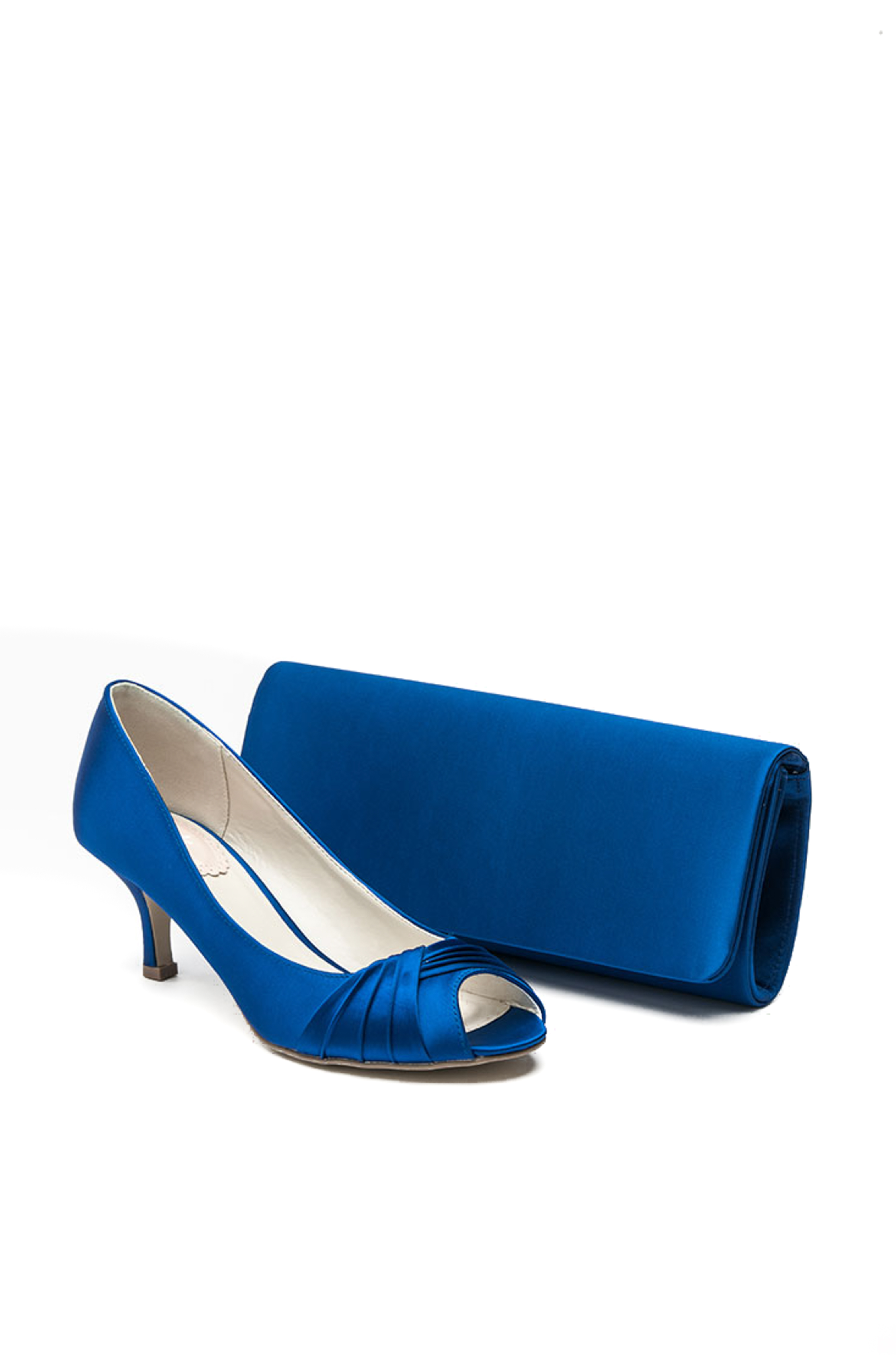 Low Height Royal Blue Satin Peep Toe Shoe P16g Size 3 59 Now 39 Bag 32 25 Catherines Of Partick