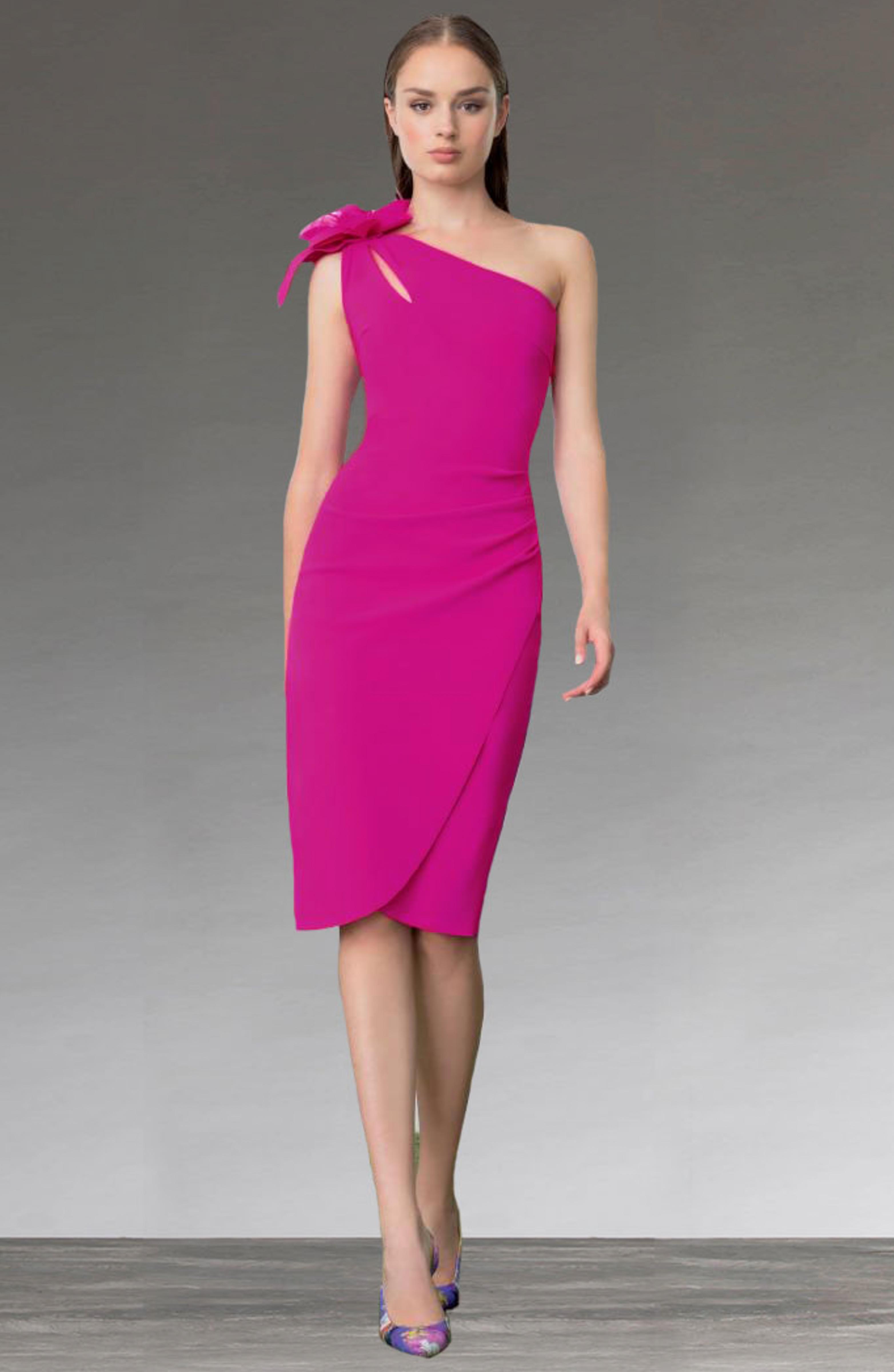 1 shoulder short dress